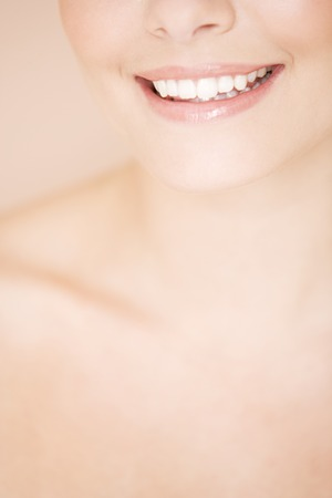 cropped: Cropped portrait of a young woman smiling