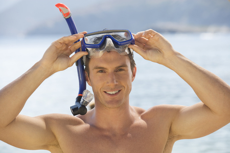 A man snorkeling