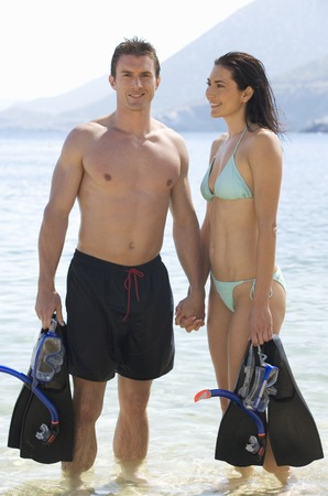 explored: A couple snorkeling