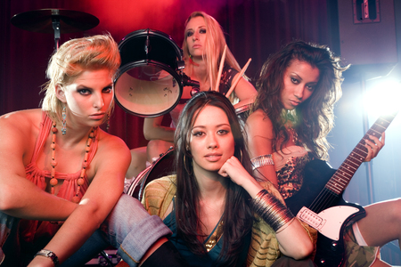 musically: Portrait of a girl pop group