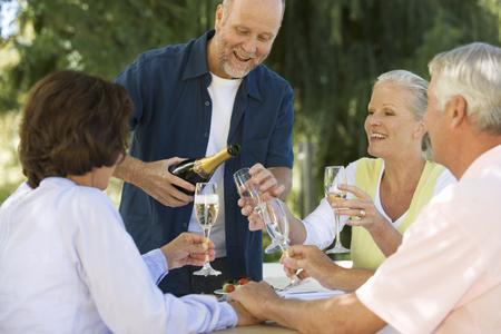 A group of senior couples celebrating Stock fotó - 96414520