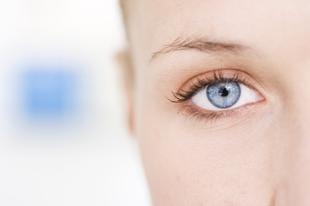 Womans right eye Stock Photo