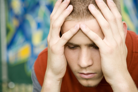 teenaged boys: A teenage boy