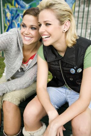 teenaged girl: Two teenage girls
