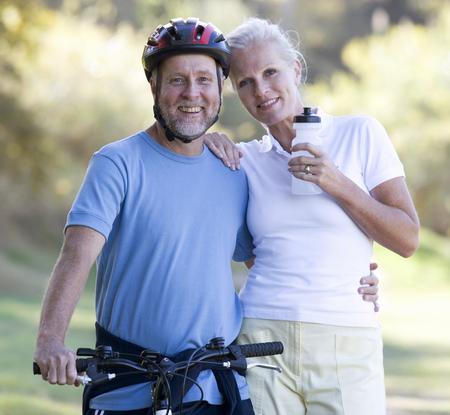 A senior couple keeping fit Stock fotó