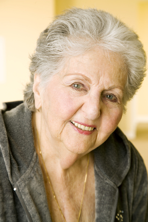 Portrait of an elderly woman Stock Photo