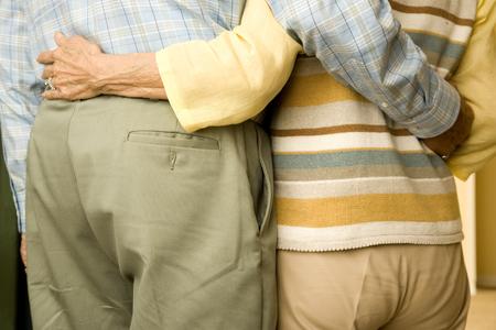 retiring: An elderly couple