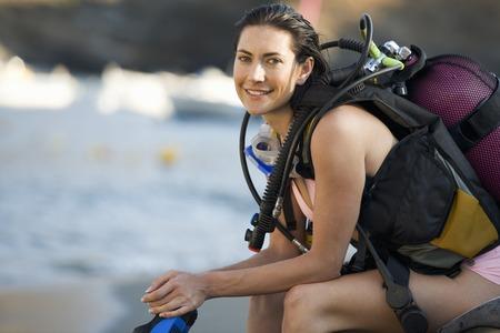 explored: A female scuba diver