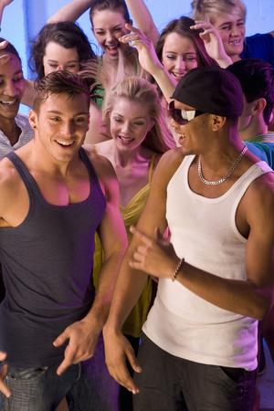 Group of friends dancing Stok Fotoğraf