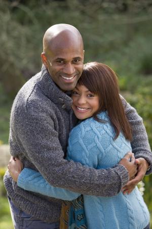 Happy couple hugging Stock Photo