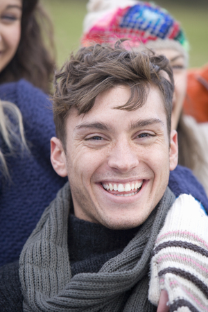 Smiling young man Stok Fotoğraf