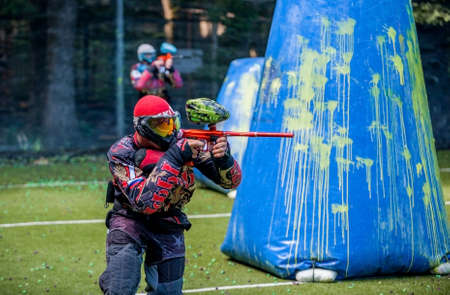 Russia. Stavopol. 07/21/2018 Russian Paintball Federation Stage 4 qualifying competitions in sports paintball. More than 12 teams from the Southern Federal District took part in the competition.
