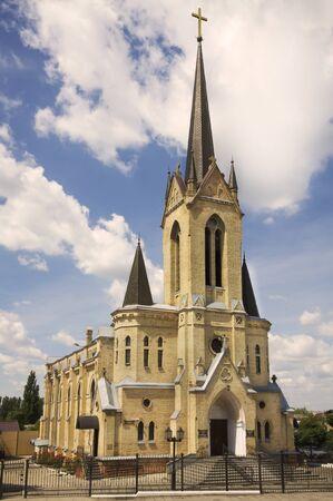 古いゴシック様式の教会