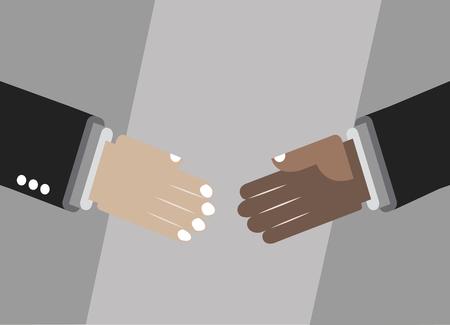 making: Hands shaking for partnership, making deal