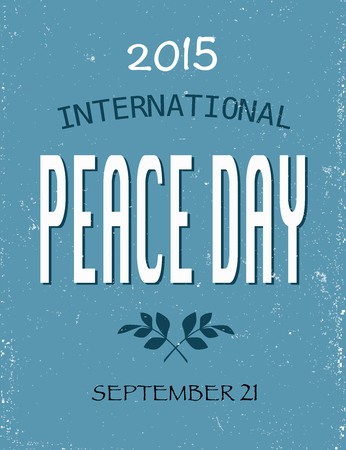 peace day: Peace Day 2015 picture on blue background Illustration