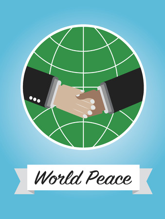 world peace: World Peace picture for Peace Day Holliday Illustration