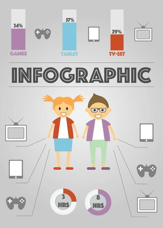 statics: Infographics Gadgets with statics of using