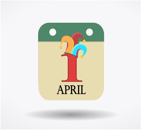 ホリデーは 4 月 1 日、カレンダーに署名の分離ホワイト