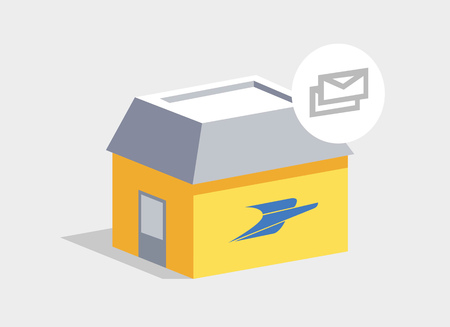 Post office. Fast delivery company