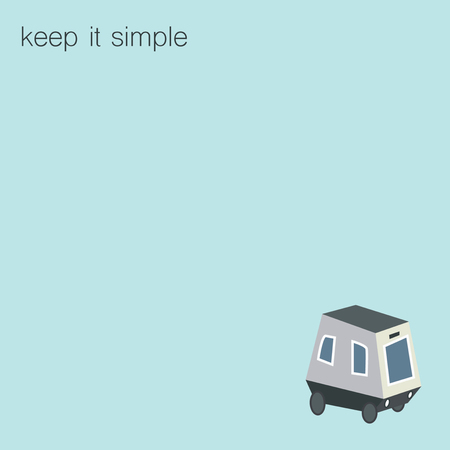 motivator: Keep it simple motivator. Picture with smart car on it