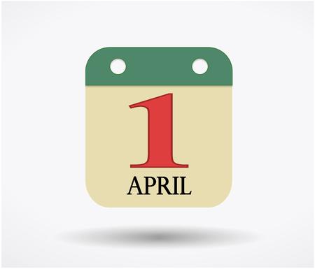 4월: 1st of April calendar sign