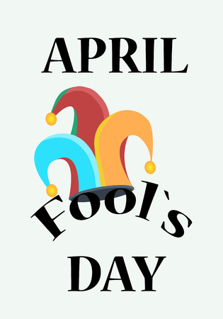 idiot box: Fools day holliday, clowns hat, April the first
