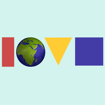 environmental awareness: LOVE planet. Ecologycal planet. Nature. Bio.