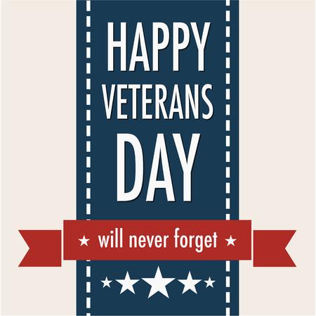 幸せの退役軍人の日。11 月 11 日。愛国者の祭典