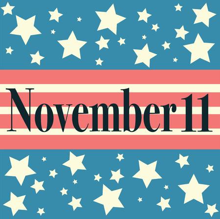 patriots: Veterans Day Embleme. November 11. Patriots Illustration