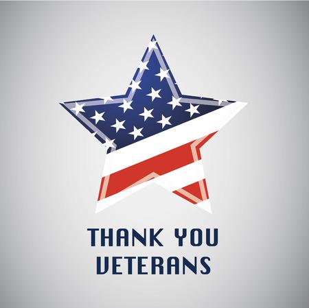 ありがとう退役軍人。Independens 日。米国で自由。アメリカの国旗の星型