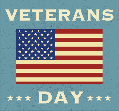 served: Veterans Day in USA. Background with a flag Illustration
