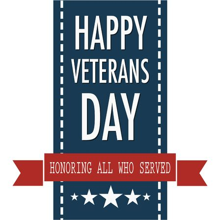 11th: Happy veterans day quote for the Vet Day in USA on the 11th of November Illustration