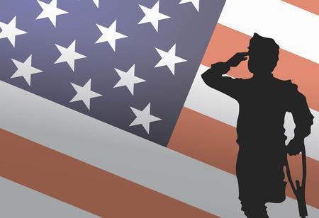 Usa Veterans Day, 11 november. Echte helden. Eren allen die gediend Stock Illustratie