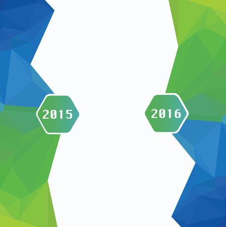 2015 年は、2016 年までに変更されます。抽象的な年賀状  イラスト・ベクター素材