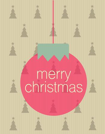黄色の背景と一緒にクリスマス ボールにメリー クリスマスの挨拶