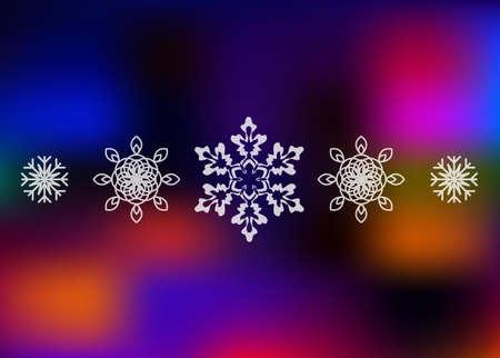 背景をぼかした写真高級雪片  イラスト・ベクター素材