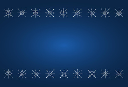 白い雪と青いクリスマス カード背景  イラスト・ベクター素材