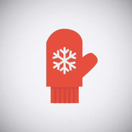 グレーに分離されたクリスマス赤グローブ アイコン