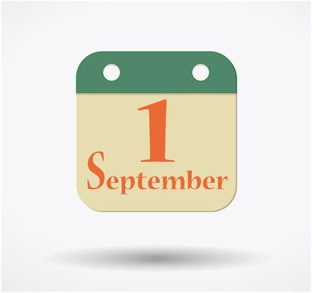 カレンダーに 9 月 1 日