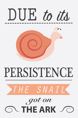 persistence: Motivation picture for persistence. Flat design banner. Illustration