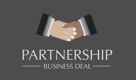 bussines: Partneship hands for a bussines deal. Isolated on gray Illustration