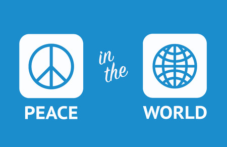 world peace: Peace in the world, peace day, 2015. Peace motivator Illustration