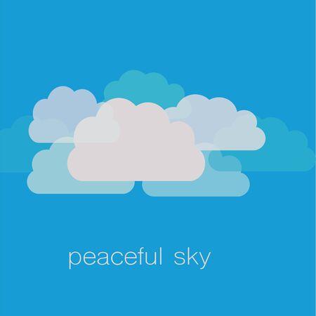 青い背景と平和日の祭典エンブレム
