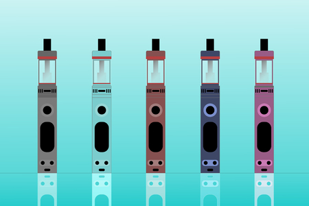 E cigarette colored vector
