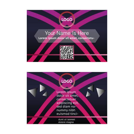 Simple business card template illustration