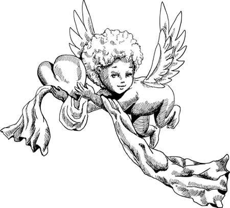 Cute Angel doodle sketch