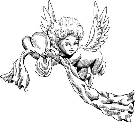 Cute Angel doodle sketch Stock Vector - 8566772
