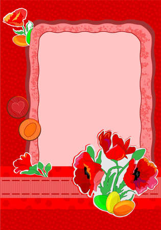 vector illustration of a cartoon easter card Vector
