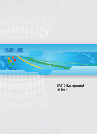 Technology theme vector template with wires eps10