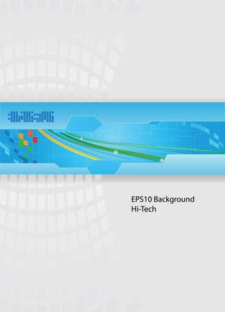 Modèle de vecteur de thème de technologie avec fils eps10 Banque d'images - 9179569